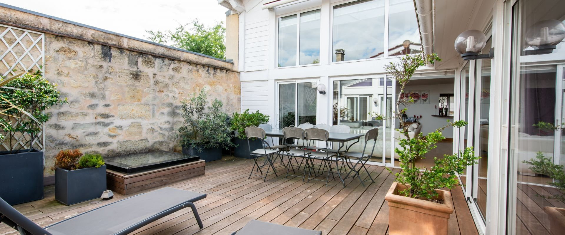 Terrasse loft bordeaux judaique