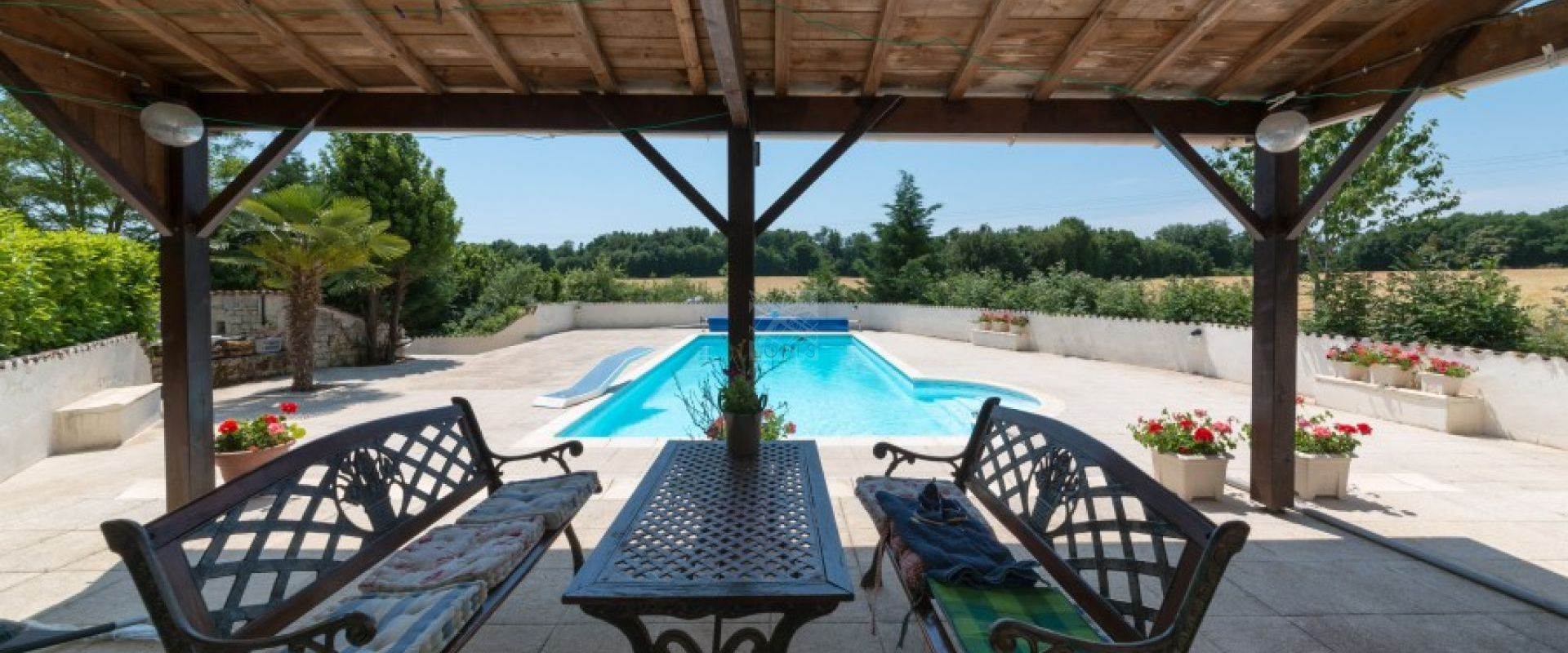 summer living room swimming pool property Royan